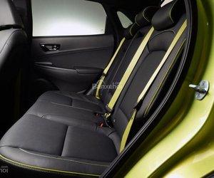 Đánh giá xe Hyundai Kona 2018: Hàng ghế sau của xe.