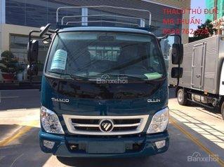 Xe tải 2,3 tấn Thaco Ollin 350 mui bạt, thùng dài 4,3m hỗ trợ trả góp, tiêu chuẩn Euro4