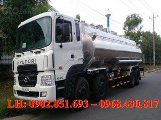 Bán xe bồn nhôm Hyundai HD320 24 khối chở xăng dầu