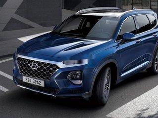 Bán xe Hyundai Santa Fe đời 2019, màu xanh lam. Máy dầu đặc biệt - giao ngay