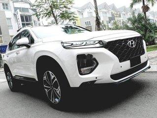 Cần bán xe Hyundai Santa Fe đời 2019, màu trắng, khuyến mại lớn
