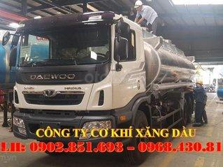 Bán xe bồn chở xăng dầu Daewoo 3 chân 21 khối giá tốt giao ngay, xe bồn nhôm Daewoo 21 khối