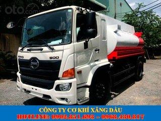 Bán xe bồn Hino 10 khối, 11 khối chở xăng dầu có sẵn giao ngay giá tốt