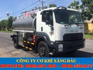 Bán xe bồn Isuzu 10 khối, 12 khối chở xăng dầu uy tín chất lượng giá tốt