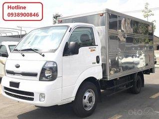 Xe tải Thaco Kia 1T4, thùng kín - thùng mui bạt, trả góp 70%