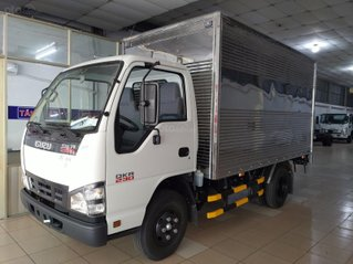 Isuzu 1.5 tấn thùng kín inox - KM: 9.4tr tiền mặt, máy lạnh, 12 phiếu bảo dưỡng, radio MP3