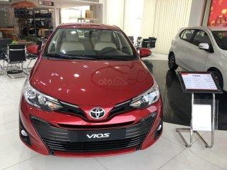 Bán xe Toyota Vios đời 2020 màu đỏ giao ngay - mua trả góp chỉ với 150 triệu