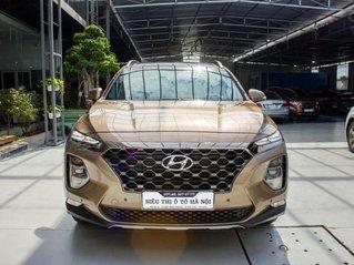 Bán xe Hyundai Santa Fe 2.4AT xăng cao cấp 2019, màu nâu, trả trước chỉ 348 triệu