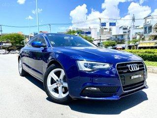 Audi A5 nhập Đức 2015 màu xanh zin, full và độ vào rất nhiều đồ chơi cao cấp, số tự động 6 cấp, nội thất kem