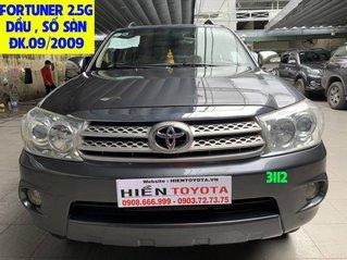 Cần bán lại Toyota Fortuner sản xuất 2009, màu xám, máy dầu, số sàn