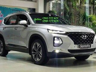 Cần bán Hyundai Santa Fe 2.4 AT 2020, màu bạc, giá cạnh tranh