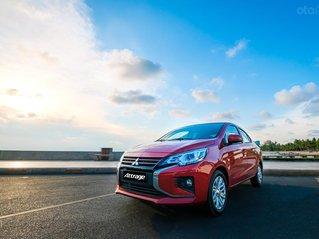 Cần bán Mitsubishi Attrage đăng ký 2020, màu đỏ nhập khẩu, giá chỉ 460 triệu đồng, giảm 50% thuế trước bạ ưu đãi tháng 8