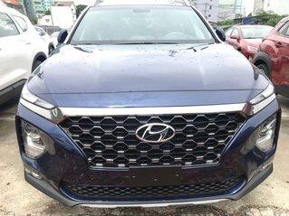 Bán xe Hyundai Santa Fe máy dầu số tự động sản xuất 2020, màu xanh lam