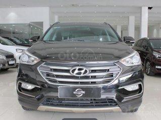 Bán Hyundai Santa Fe đời 2017, giá chỉ 890 triệu, màu đen, biển số SG
