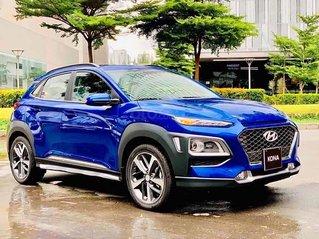 Bán ô tô Hyundai Kona 1.6 Turbo sản xuất năm 2020, màu xanh lam, giá chỉ 731 triệu