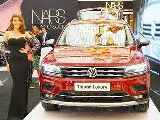 Hot! Vũng Tàu giảm phí trước bạ Tiguan Luxury-S màu đỏ Ruby, 2.0Turbo, vay NH 90%, giao xe ngay, miễn phí tận nhà