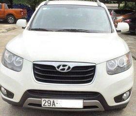 Gia đình cần bán xe Hyundai Santafe trắng, đời 2011, đẹp không tì vết