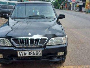 Bán xe Ssangyong Musso năm 2001, màu đen số sàn, giá tốt