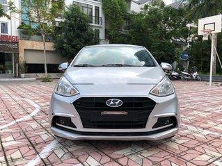 Cần bán lại xe Hyundai Grand i10 1.2AT năm sản xuất 2018, màu bạc