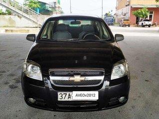 Bán Chevrolet Aveo đời 2012, màu đen, số sàn