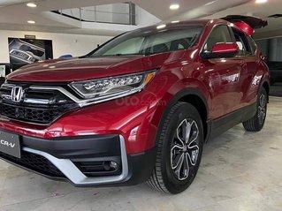 Honda Ôtô Thanh Hóa, giao ngay Honda CRV 1.5L màu đỏ, giảm 100% phí trước bạ