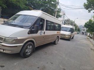 Ford Transit 16 chỗ máy dầu, sx Việt Nam xe 2.4 chạy 150.000km, 4 cửa nội thất ghi 8L/100km