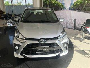 Toyota Wigo 1.2 số tự động, màu bạc, giao ngay