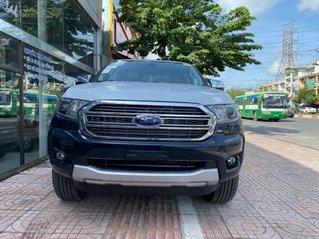 Bán xe Ford Ranger Limited New 2021, màu xanh deep Crystal Blue, xe nhập