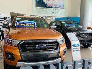 """[Siêu khuyến mãi] """"Ông vua bán tải"""" - Ford Ranger Wildtrak Bi-Turbo 2020 giảm giá cực sốc, xe có sẵn giao ngay tận nhà"""