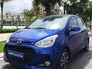 Bán ô tô Hyundai Grand i10 sản xuất năm 2018, màu xanh lam còn mới