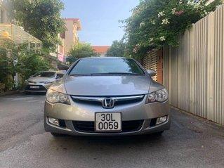 Cần bán xe Honda Civic năm sản xuất 2008, màu bạc số tự động