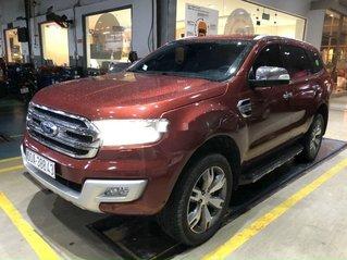 Bán xe Ford Everest Titanium 2.2L màu đỏ hàng hiếm sản xuất năm 2017, xe nhập