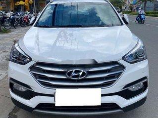 Bán xe Hyundai Santa Fe đời 2019, màu trắng số tự động, máy dầu