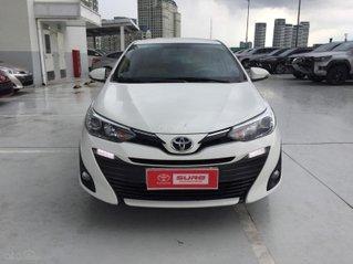 Cần bán xe Toyota Vios 1.5G CVT 2019, màu trắng, gia đình đi 10.500km - xe cũ chính hãng Toyota Sure