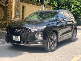Cần bán lại xe Hyundai Santa Fe 2.4 Preminium đời 2020, màu đen