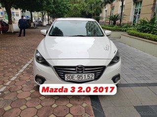 Cần bán Mazda 3 2017 bản 2.0AT màu trắng, biển Hà Nội