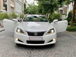 Lexus IS250C mui trần sản xuất 3/2011 tên tư nhận biển Hà Nội, odo 40.000 km, màu trắng, nội thất kem đẹp xuất sắc