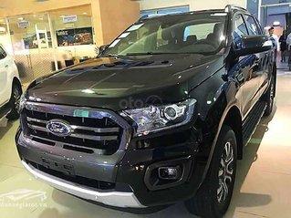 Bán Ford Ranger Wildtrak 2.0L 4x4 AT năm sản xuất 2019, màu đen, nhập khẩu