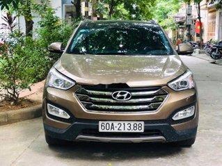 Bán xe Hyundai Santa Fe năm 2015, màu nâu