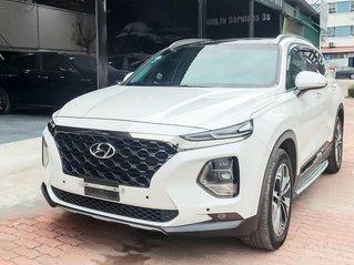Bán gấp xe Hyundai Santa Fe đời 2019, máy dầu, màu trắng