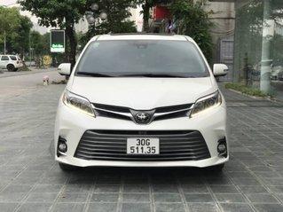 Bán ô tô Toyota Sienna Limited AWD sản xuất 2018, màu trắng, xe nhập. Biển HN