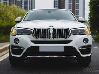 Bán xe BMW X4 màu trắng sản xuất 2014, nội thất kem