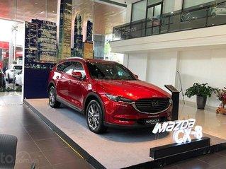 Mazda CX8 + tặng gói nâng cấp + tặng 1 năm bảo hiểm vật chất + bộ phụ kiện 30tr hỗ trợ vay lên đến 80%