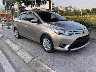 Bán Toyota Vios năm sản xuất 2015, màu vàng cát, giá chỉ 398 triệu