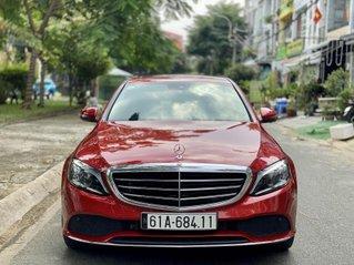 Bán Mercedes C200 Exclusive đỏ/kem 2020