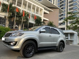 Bán Toyota Fortuner 2.5G, số sàn, máy dầu, sản xuất 2016, màu bạc, xe đẹp BSTP, trang bị đầy đủ đồ