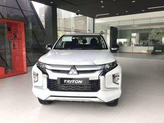 Bán ô tô Mitsubishi Triton sản xuất 2020, màu trắng, nhập khẩu, giá chỉ 600 triệu