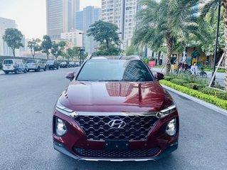 Bán Hyundai Santafe 2.4L Premium màu đỏ đô quý phái, sản xuất năm 2019 model 2020 siêu đẹp cao cấp, xe siêu lướt