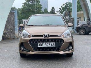 Bán Hyundai Grand i10 1.2 AT sản xuất 2017, màu nâu còn mới, giá tốt