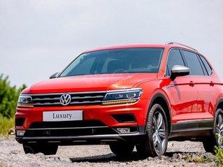 Xe Volkswagen Tiguan Luxury 7 chỗ Đức nhập khẩu, hỗ trợ 100% phí trước bạ
